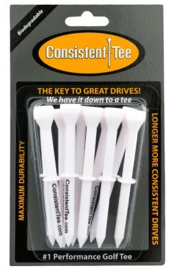 DCT003White - Consistent Tee Step-T White 3 1/4 10pk