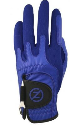 ZF Mens Left Hand Compression Fit Performance Glove Blue