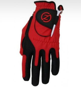 ZF Mens Compression Fit Red Glove Left Hand